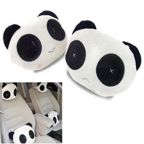 Homeking 2pcs Asiento de Coche Panda Peluche Cabeza Resto ...