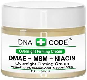 ANTI-AGING-DMAE+MSM+NIACIN Overnight Firming Cream, Argireline, Matrixyl 3000, Copper Peptide,SYN-AKE, Hyaluronic Acid