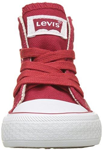 Trucker Mini Baskets Kids Hi Mixte Levi's Enfant Red Red Hautes Rouge p5Oqw