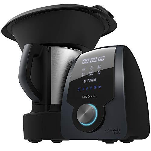 Cecotec Robot de Cocina Multifunción Mambo 8090, Cuchara MamboMix, 30 funciones, Báscula Incorporada, Jarra de Acero…
