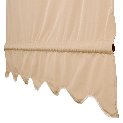 Yescom 2 Pcs 15.5x4 Ft Canopy Cover Replacement with Valance for Pergola Structure Tan by Yescom (Image #3)