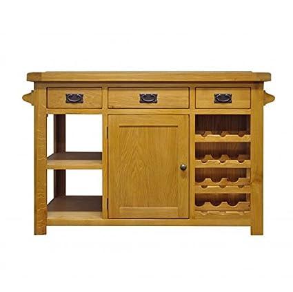 Cucina In Rovere Con Piano In Granito.Oak Furniture House Neo Grande Isola Da Cucina Con Piano In
