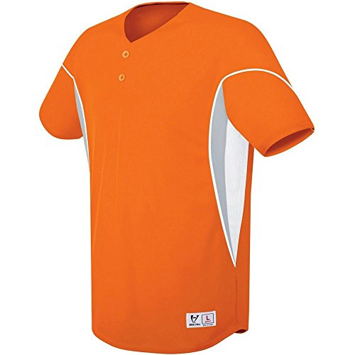 (High Five Ellipse Two-Button Jersey-Youth,Orange/White,Small)