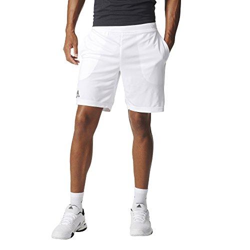 adidas Men's Tennis Climachill Shorts, White, Large