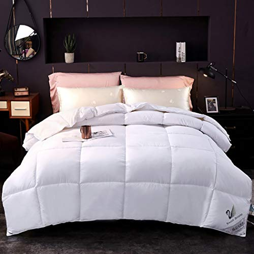 Ggbz Bed Linings Duvet Autumn and Winter Keep Warm Thick and Skin-Friendly Breathable Comfortable Sleep Safe and Healthy Corner Buckle Quilted (Color : White, Design : ()