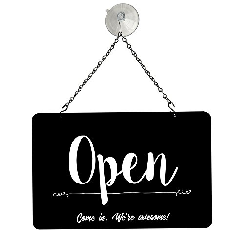 "Signs Metal Business - NAHANCO NMSKBOWA Black Open/Closed Metal Sign Kit, 12""W x 8""H,"