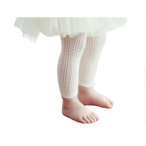 Infant Toddler Girls Solid Knit Footless Leggings / Tights Socks (2T-4T) Infant Footless Tights