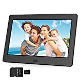 Digital Photo Frame 1280x800 16:9 IPS Screen 7 inches + 32GB SD Card HD Digital Picture Frame Widescreen, Support 1080P Videos, Photos Auto Rotate, Support Thumb USB Drive, SD/MMC/MS Card(Black)