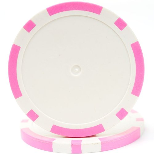 Trademark Poker Classic Eight Stripe Dual Color 50 Poker Chips, 11.5gm, Pink (Poker Chip Labels)