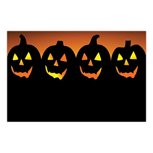 Halloween Paper Place Mats 25 Pack All Hallows Eve Scary Jack o' Lanterns Teen Kids Costume Parties Adult or Child Luncheon Disposable Easy Cleanup 17