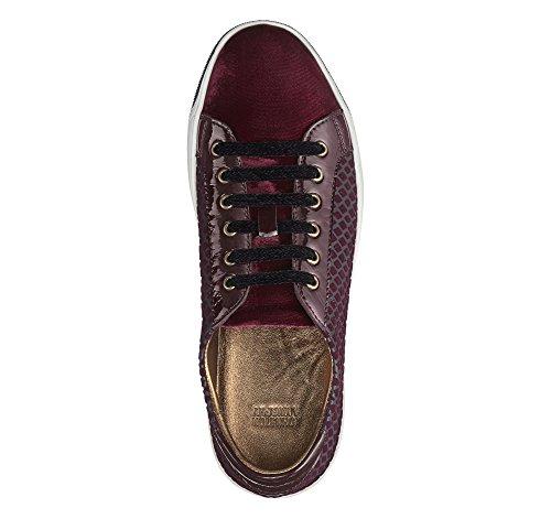 Johnston Murphy Womens Emerson Lace-Up Sneaker Bordeaux Leather/Velvet Bordeaux Leather/Velvet oDPOD