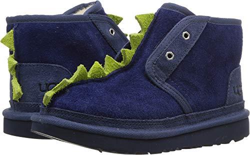 UGG Kids Boy's Dydo Neumel II (Little Kid/Big Kid) Navy/Bright Chartreuse 2 M US Little Kid (Kids Ugg Boots Blue)