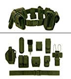ultimate arms gear belt - Ultimate Arms Gear OD Olive Drab Green 10pc Police-Law Enforcement-Security Gear Modular Nylon Duty Belt With Pistol/Gun Holster Fits Colt 1911 XSE Handgun