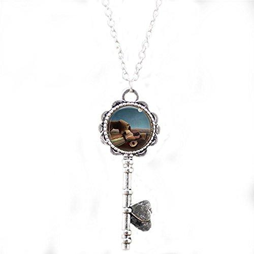 Sleeping Gypsy - Henri Rousseau - Key Necklace - Classic Art Jewelry - Artist - Art Teacher Gift -