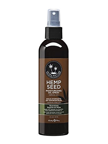 Earthly Body Moisturizing Oil Spray with Hemp Seed Guavalava 8 oz