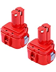 GatoPower 2 Pack 3.0AH Ni-MH Vervanging voor Makita 12V Accu PA12 1233 1234 1235 1235B 1235F 192696-2 192698-8 192698-A 193138-9 193157-5 Snoerloos Elektrisch Gereedschap