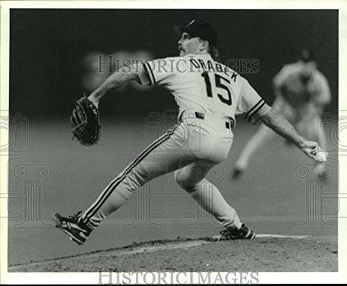 (1992 Press Photo Pittsburgh Pirates pitcher Doug Drabek on mound in Houston.)