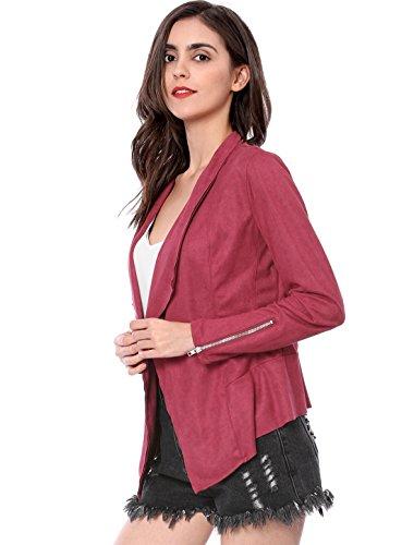 Rouge Femmes Du dessus violet Robe Genou K Ligne Une Allegra De Contrasté Au Col YSw7AU