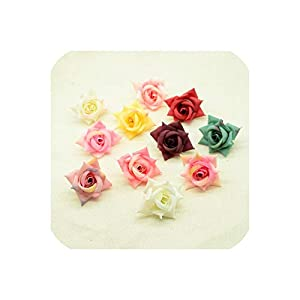 April With You 5pcs Silk Roses Flowers New Year Christmas Decoration for Home Wedding Party Bridal Brooch DIY a Cap Gifts Box Artificial Flower 84