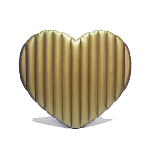 Giant Inflatable Gold Heart Pool Floats for Adults - 72