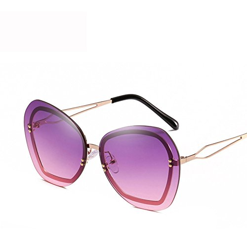 De Gafas Metal Marco Gafas Sol Personalidad Protector Eye De Protection E Unisex De Diamante GUOHONGCX Wind Sol Moda Avant Trend Irregular Care C Sports 5w1qnUR