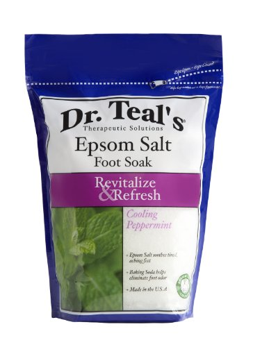 (Dr Teal's Epsom Salt Foot Soak, Cooling Peppermint, 32 Ounce)
