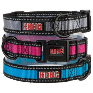 Kong Reflective Dog Collar Large Blue