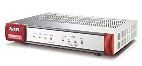 ZyXEL ZyWALL USG 20 USG Firewall, 5 IPsec, 1 SSL-VPN Tunnel, 100Mbit/s Firewall-Durchsatz