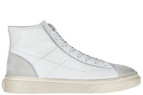 Hogan Mens Shoes High Top Leather Trainers Sneakers h340 White