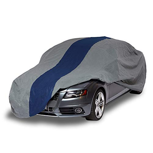 (Duck Covers Double Defender Indoor/Outdoor Car Cover, 3 Layers, All Weather Protection, Limited 3 Year Warranty,  Fits Sedans up to 19 ft.)