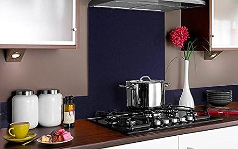Vidriopanel Copete DE Vidrio Color Metalizado para frentes de cocinas en Diferentes Medidas/Zócalo de Encimera antisalpicaduras en Cristal (40cm x 14cm, ...