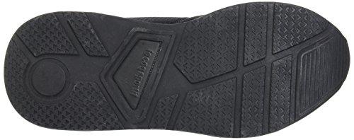 Le Coq Sportif Lcs R600 Mesh, Entrenadores Bajos Unisex Adulto Negro (Black)