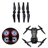 Yifant DJI Mavic Air LED Flash Propellers Quick Release Noise Reduce Night Flying Pros Blades with USB Charging Port for Quadcopter Helicopter Drone Accessories (2 Pairs)