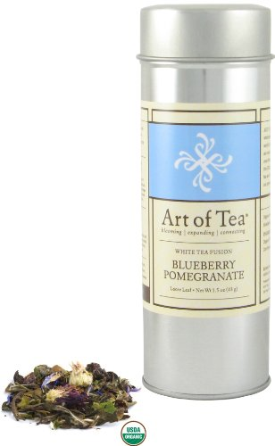 Blueberry Pomegranate Organic White Tea - 1.5oz Tin