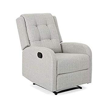 Christopher Knight Home 305855 Smith Traditional Recliner, Beige Black