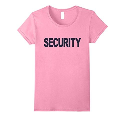 Color Guard Costumes Uniforms (Womens Security T-shirt Fashion Guards Uniform Unisex Top Tee Medium Pink)
