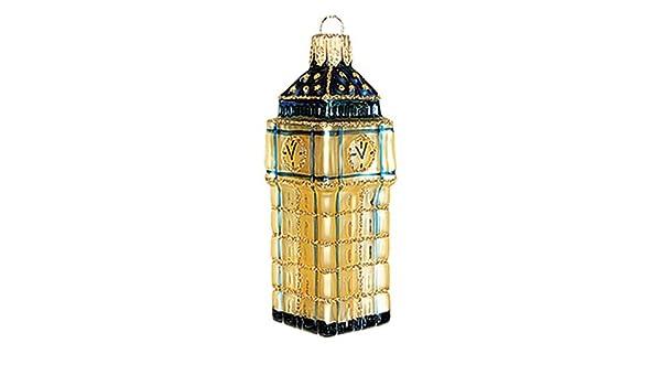 6be65d26620c Amazon.com: Pinnacle Peak Trading Company London Big Ben Clock Tower MINI  Polish Blown Glass Christmas Ornament Decoration: Home & Kitchen