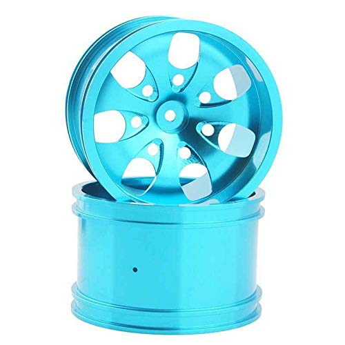 Toyoutdoorparts RC 08008N Alumiunm Blue Wheels 4pcs for RedCat 1:10 Nitro Volcano S30 Truck by Toyoutdoorparts (Image #1)