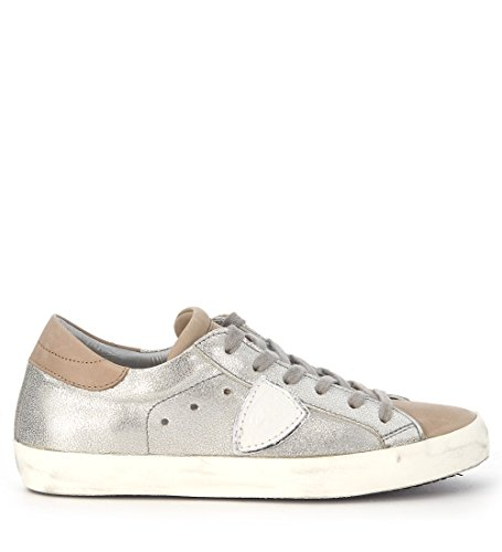 Sneakers Philippe Model Paris in pelle argento Plata