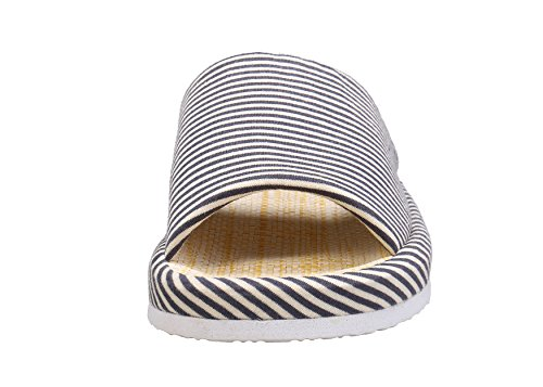 Grey Unisex Slippers Zebra Zicoope Steel Stripe Indoor Flax Cotton 8qSppPnwd