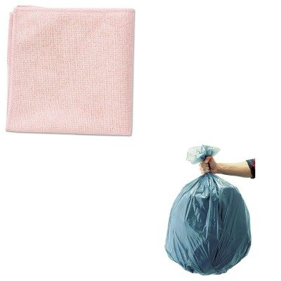 KITRCP1820581RCP501188GRA - Value Kit - Rubbermaid Microfiber Cleaning Cloths, 16 X 16, Red (RCP1820581) and Rubbermaid 5011-88 Tuffmade Polyliner Low-Density Can Liners, 55 Gallons (RCP501188GRA)