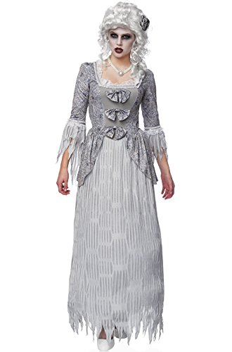 Costume Culture Women's My Spirit Lady Ghost Costume, Grey, Medium (Marie Antoinette Halloween Costume)
