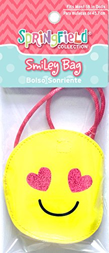 Springfield Collection by Fibre-Craft 18 Inch Doll Accessories, Smiley Bag