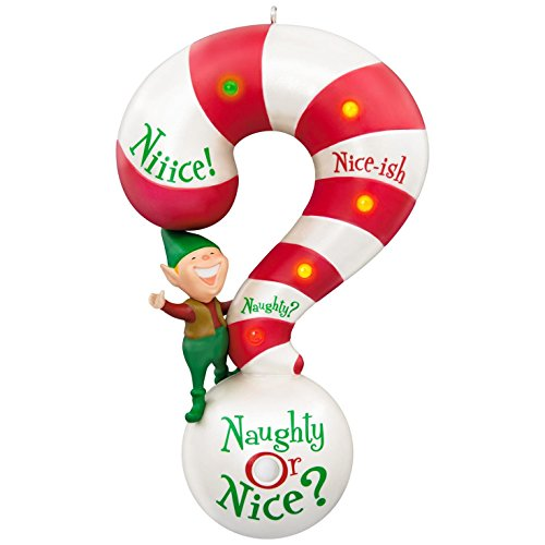Hallmark Keepsake 2017 Naughty or Nice? Meter Sound and Light Christmas Ornament (Nice Christmas Ornament)