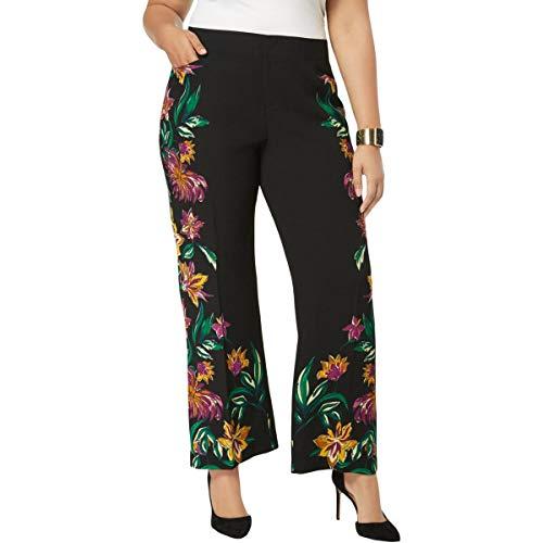 INC International Concepts Plus Size Floral-Print Wide-Leg Pants (16W)