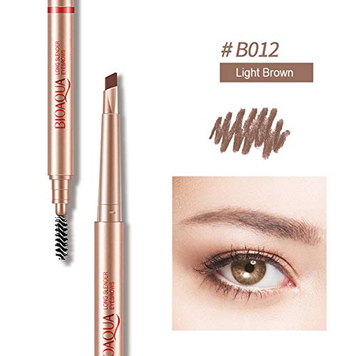Multifunction Automatic Eyebrow Pen Makeup Eyebrows Tool Waterproof Eyebrow Pencil With Eyebrow Brush (Best Japanese Brow Pencil)