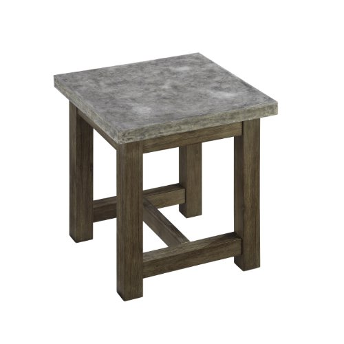 (Concrete Chic Brown/Gray End Table by Home Styles)
