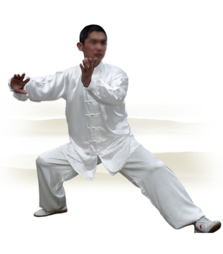 Tai Chi Uniform - luxurious Korean Silk, stretch TaiChi suits, Traditional Tai Chi Clothing for your Tai Chi Exercise, 12 colors and styles, Black, White, Red, Pink, Claret, Shocking Pink, Gold Yellow, Light Yellow, Mazarine, Lake Blue, Light Sky Blue, Lilac Purple, White with Red Cuff and Frogs Button