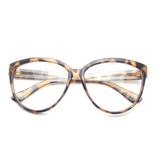 Nerd Lentille Emblem Womens Marron Oversize Eyewear Claire Geek Fashion Chat De Rétro Lunettes xCqqtXwr4