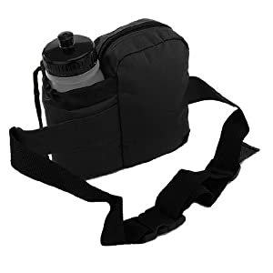 Everest BH-14NB Insulated Water Bottle Waist Hip Fanny Pack Bag Black + Bottle